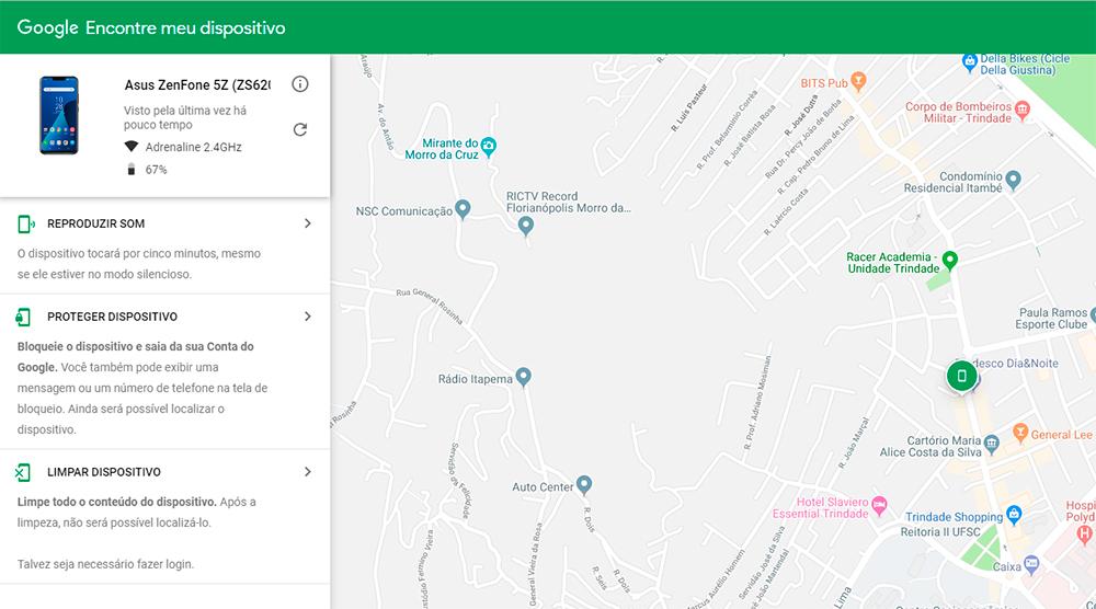 Perdeu o ZenFone? Veja como encontrá-lo. Site exibe a localização do aparelho.