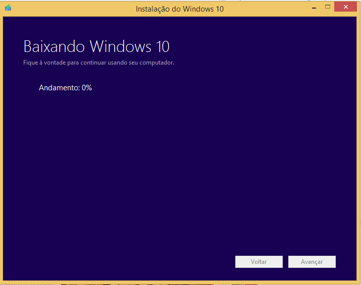 baixando windows 10 2