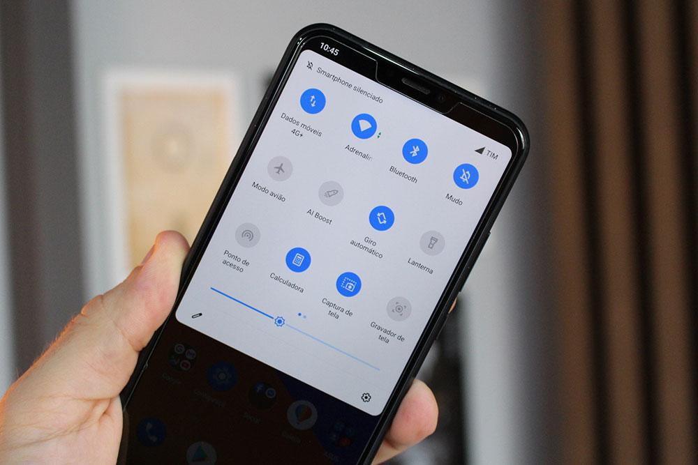 Barra de notificações do ZenFone 5Z com Android 10