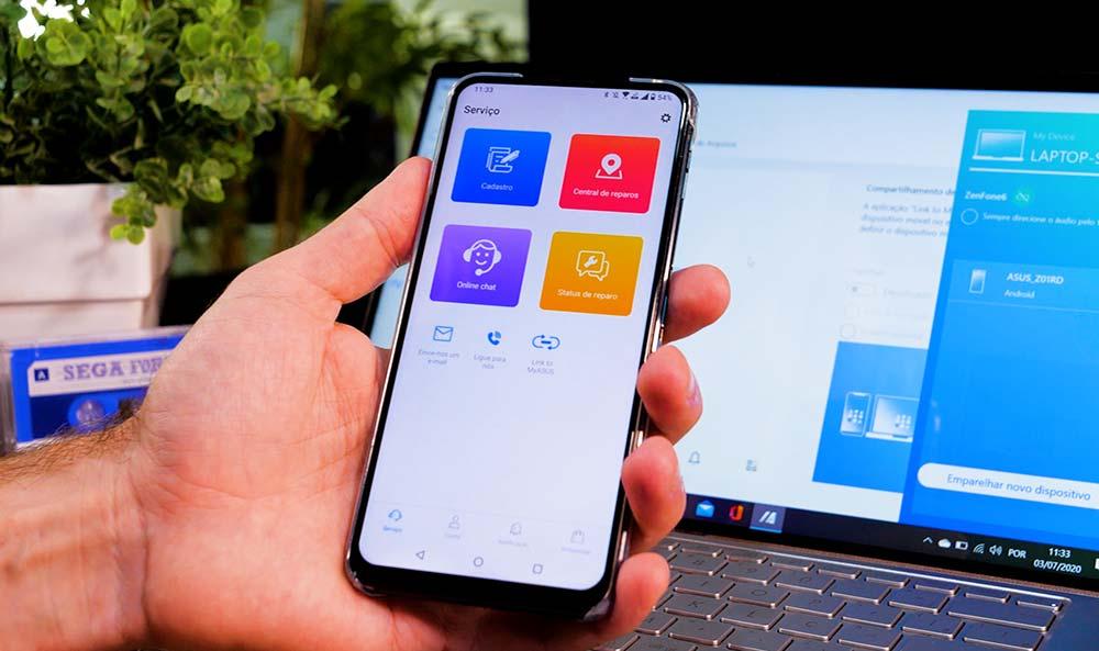 Versão mobile do app MyASUS
