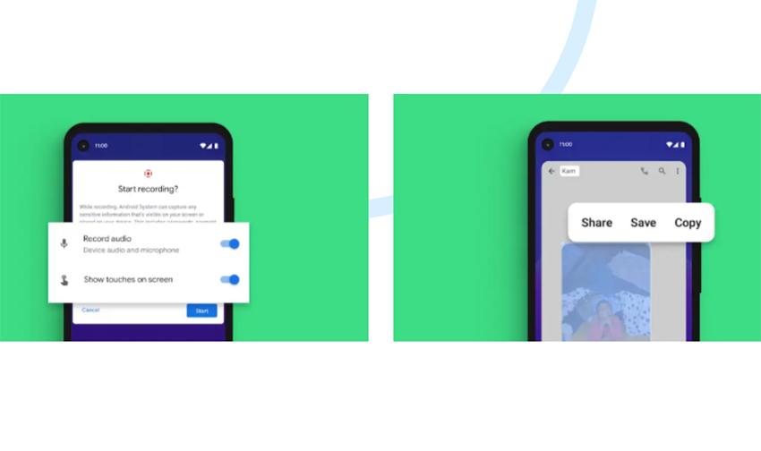 Exemplo do recurso de captura de tela integrado ao sistema, uma das novidades do Android 11