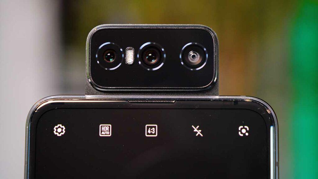 Hands-on ZenFone 7 - câmera