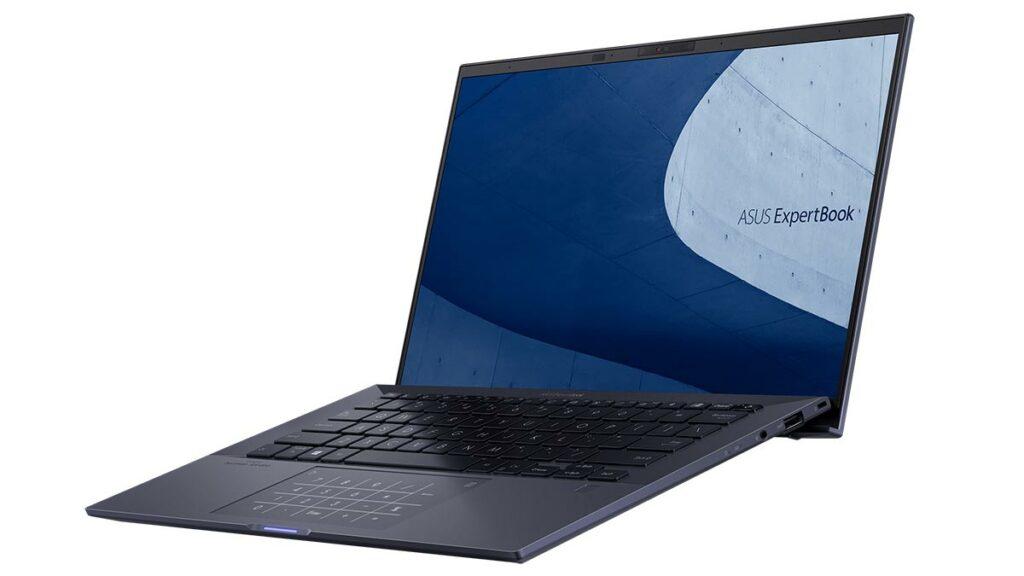 Imagem do ExpertBook B9, notebook da ASUS apresentado na CES 2021
