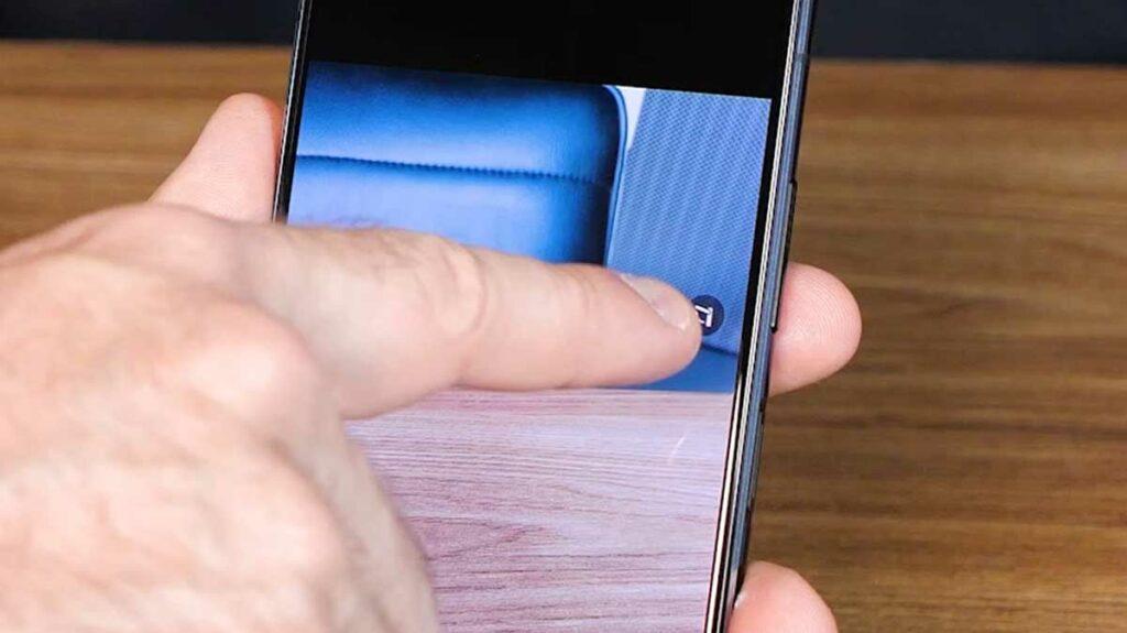 Imagem mostrando o botão de posições favoritas da câmera do ZenFone 7
