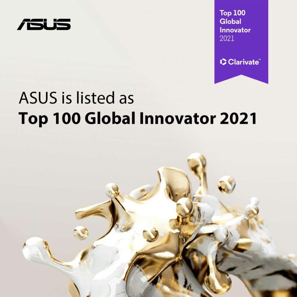 ASUS entre as 100 Inovadoras Globais de 2021.