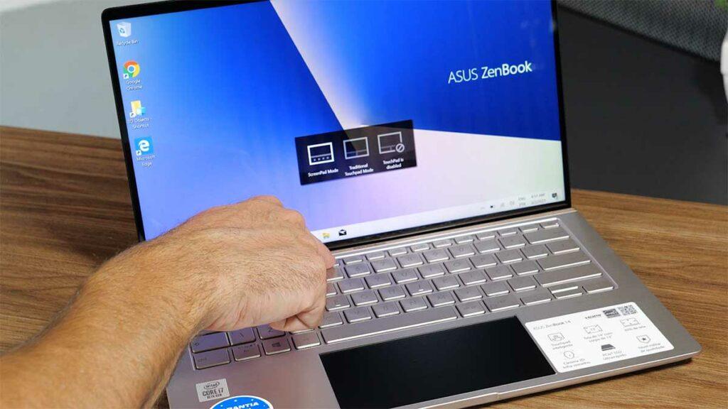 Usando a tecla F6 para ligar e desligar o ScreenPad do ZenBook