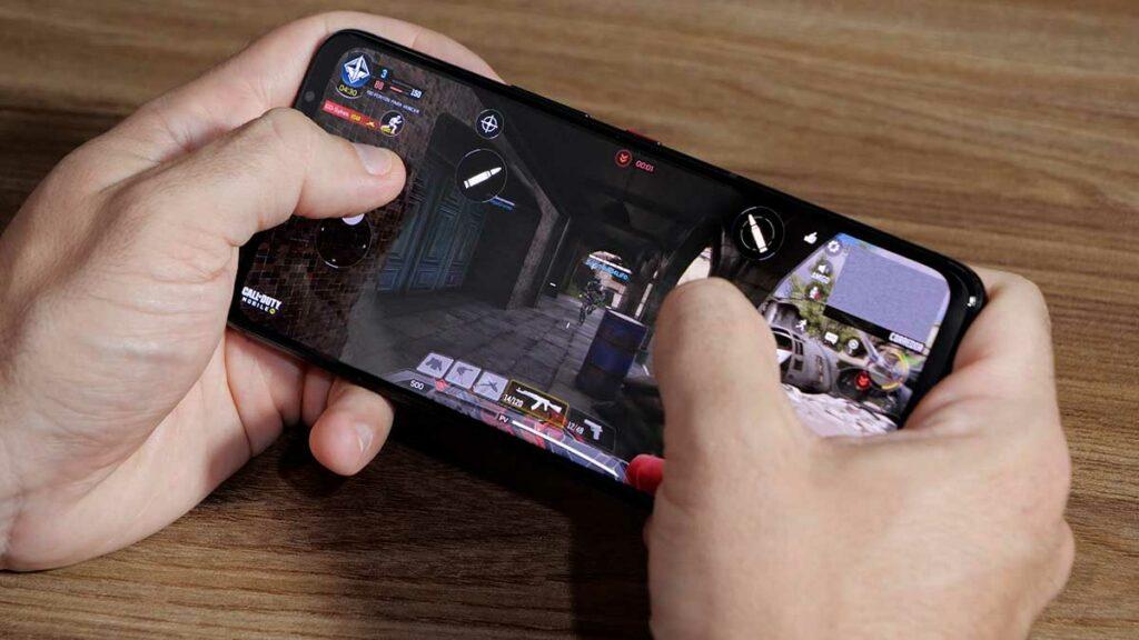 Hands-on ROG Phone 5: Tela do aparelho