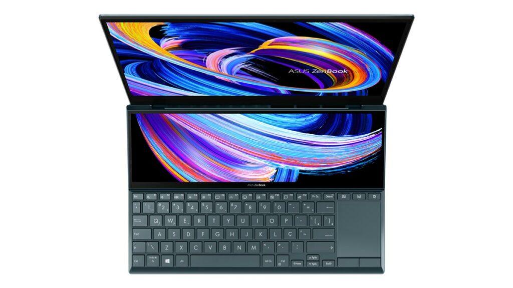 ScreenPad Plus do ZenBook Duo 14 UX482