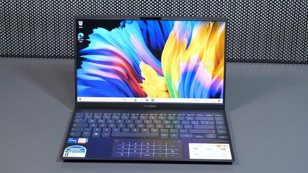 hands-on zenbook 14 ux425: Tela e Numberpad do notebook
